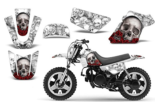 Sticker Mx Kits - Bone Collector-AMRRACING MX Graphics decal kit fits Yamaha PW50 All years-White