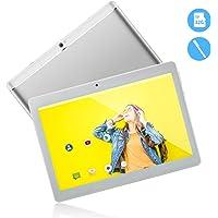 Tableta Android de 10.1 Pulgadas 3G, CPU Android 8.1 Quad Core, ROM de 64GB 2GB RAM, IPS HD 1280x800 Llamada telefónica desbloqueada PC Phablet con Ranuras para Tarjetas Dual Sim Tablet Pad (Plata)