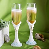 Fashioncraft Finishing Touches Collection Beach Themed Champagne Flutes