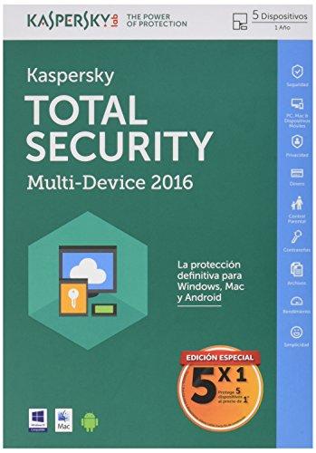 Kaspersky Total Security - Software Antivirus, 5 Licencias