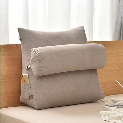 Lu - Cojín de algodón lavable triangular, para sofá o noche ...