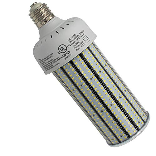 (120 Watt LED Corn Cob Bulb 6000K Bright White High Bay Light, E39 Mogul Screw Base Replacement for 400W Metal Halide/HID/CFL/HPS in Workshop Tennis Court 100-277VAC UL cUL)