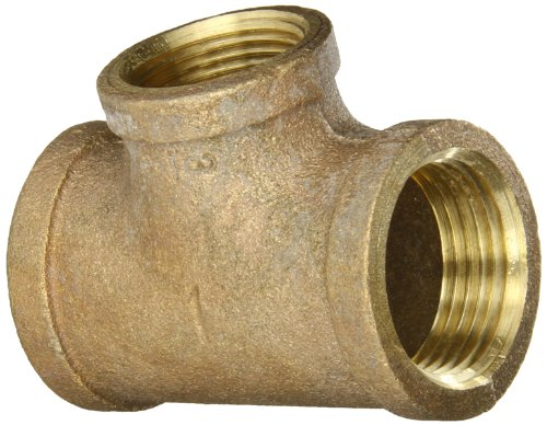 (Anderson Metals 38106 Red Brass Pipe Fitting, Reducing Tee, 1