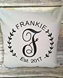 Personalized Family Pillowcase, Monogrammed Pillow Cover, Family Pillow Cover, Family Established Pillowcase, Est Pillowcase, Wedding Gift
