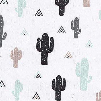 tela dibujos cactus