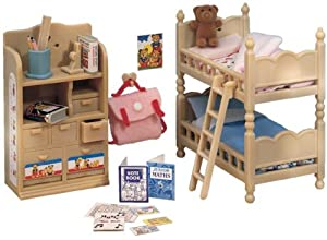 Sylvanian Families Childrens Bedroom Furniture Set Toys Games