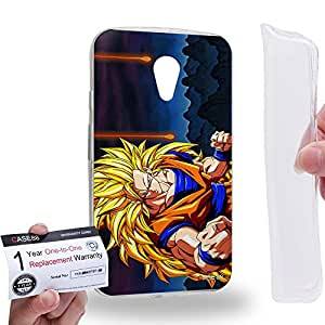 Case88 [Motorola Moto G (2nd Gen.)] Gel TPU Carcasa/Funda & Tarjeta de garantía - Dragon Ball Z GT AF Son Goku Super Saiyan Super Saiyan 3 Son Goku 0614