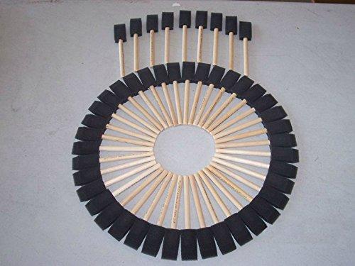 Jen Mfg. 1'' Foam Paint Brushes Box of 48 Brushes
