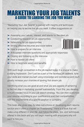Marketing Your Job Talents: A Guide To Landing The Job You Want: Shedrick  McKenzie: 9780692345719: Amazon.com: Books