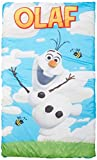 Disney Frozen Olaf Quilted Slumber Bag, Bonus Backpack with Straps, Light Blue/White