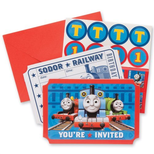 Thomas The Train Party Invitations - Party Supplies - 8 per Pack by SmileMakers