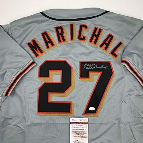 Autographed/Signed Juan Marichal San Francisco Grey Baseball Jersey JSA COA