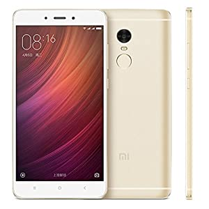 Xiaomi Redmi Note 4 Metal Body 5.5-Inch Dual LTE 32GB Factory Unlocked Smartphone - International Version (Gold)