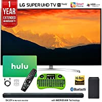 LG 65SK9000PUA 65 Super UHD 4K AI Smart TV w/Nano Cell Display (2018 Model) + LG SK10Y 5.1.2-Channel Hi-Res Audio Soundbar w/Dolby Atmos + Hulu $100 Gift Card + 1 Year Extended Warranty + More