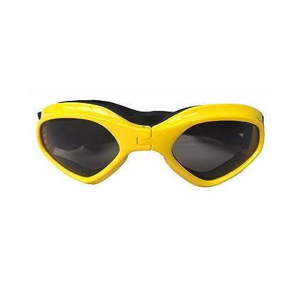 PETCUTE Elegante Animale domestico UV Goggle Occhiali da sole Impermeabile Protezione Occhiali da sole Per il Piccolo Medio Cane Bianca HfTpozw1