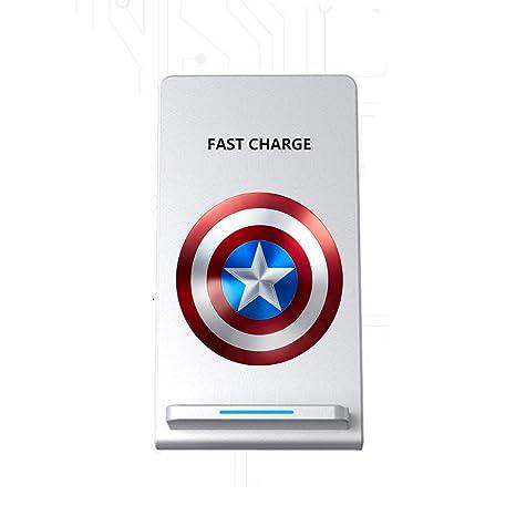 Amazon.com: Inalámbrico rápido cargador Qi, Capitán América ...