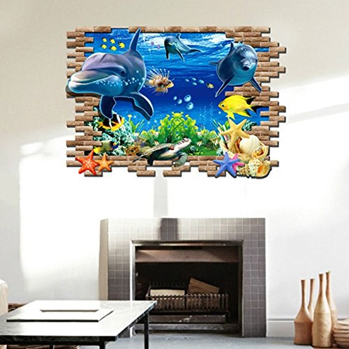 Mightystickers 3d underwater sea life ocean animal for Home decor uae