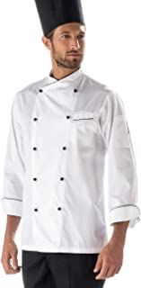 3XL Bianco+Italy F.I.C. Isacco Giacca cuoco Bilbao Bianco+Italy Manica Lunga 65/% Poliestere 35/% Cotone