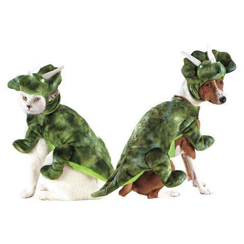 Light Up LED Triceratops Pet Costume (Dog Triceratops Costume)