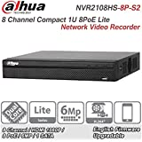 Dahua 8 Channel NVR2108HS-8P-S2 Compact 1U 8PoE Lite Network Video Recorder IP NVR Surveillance System Support Upgrate Firmware