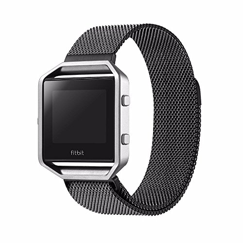 Spritech(TM) Elegance Watchband Replacement Accessories,Stainless Steel Bracelet Strap Magnet Lock Milanese Loop Band for Fitbit Blaze Watch 5.1