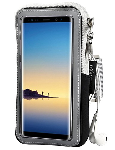Note 8 Armband, iMangoo Running Arm Band Galaxy Note 8 Sports Armband Gym Wrist Bag Workout Arm Pouch Sleeve with Keys Holder/ Cards Slot Wallet Case for Samsung Note 8 Note 3/4 Moto G4/ G4 Plus