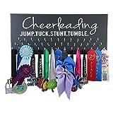 Running On The Wall Cheerleadin Medal Holder – Cheerleading – Jump.Tuck.Stunt.Tumble – Gift Cheerleader – Cheerleading Accessories – Awards & Ribbons Display