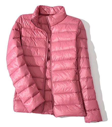amp;W Stand M Pink Puffer Collar Packable Women's Parka Down Coats amp;S 4Iqw6q5vP