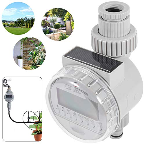Phapyness Solar Digital LCD Auto Watering Timer Water Saving Irrigation Controller