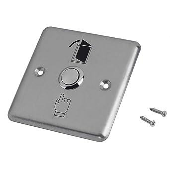 Puerta de casa de acero inoxidable Control de salida de la puerta de apertura abierta Interruptor de bot/ón pulsador K14 Abrepuertas Acceso Good Helper