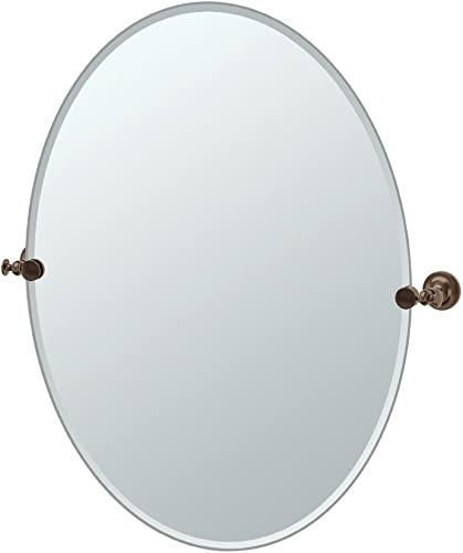 Gatco 4039LG Tavern Large Oval Mirror, Bronze