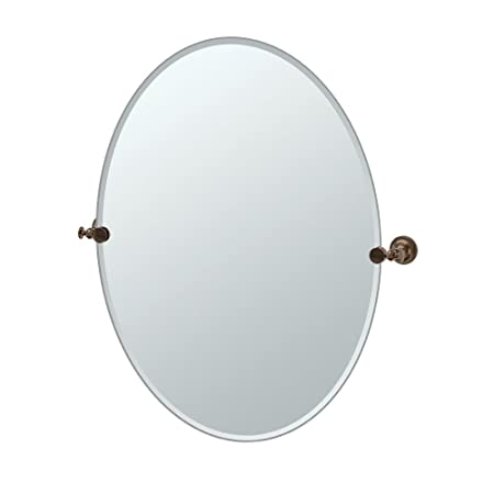 Gatco 4039LG Tavern Large Oval Mirror, Bronze