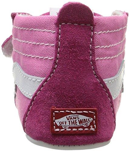 Vans Sk8-Hi - zapatos para bebés y niños pequeños (Chica, Sneakers Rosa, Color blanco