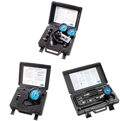 OTC 5609 Cylinder Leakage Tester Kit + OTC 5613 Vacuum/Pressure Gauge Kit + OTC 5605 Deluxe Compression Tester Kit Bundle