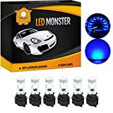 LED Monster 6 x T5 5 SMD Blue + 6 x T5 Twist Lock Instrument Panel LED Light Gauge Cluster Dashboard Indicator Lamp Bulb with Twist Sockets for GMC Savana 1500 2500 3500 Yukon XL 1500