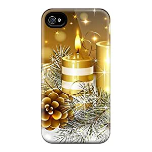 Ajephke Scratch-free Phone Case For Iphone 4/4s- Retail Packaging - Golden Cles