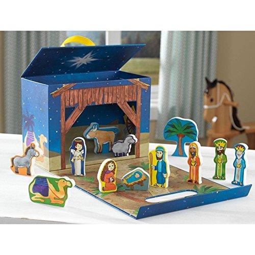 KidKraft Nativity Scene Travel Box Play Set, Multi by New