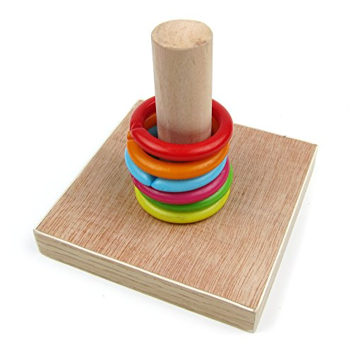 Alfie Pet by Petoga Couture - Darcy Educational Woonden Ring Tower Toy for Birds
