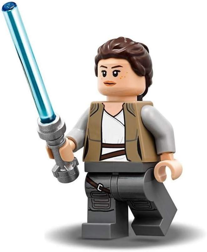 Amazon Com Lego Star Wars The Last Jedi Minifigure Rey With Jedi Lightsaber 75200 Toys Games