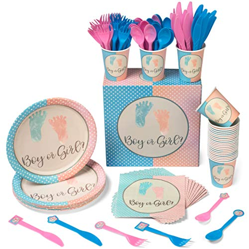 (Gender Reveal Party Supplies Decorations Kit - Ideas for Baby Reveal Shower -