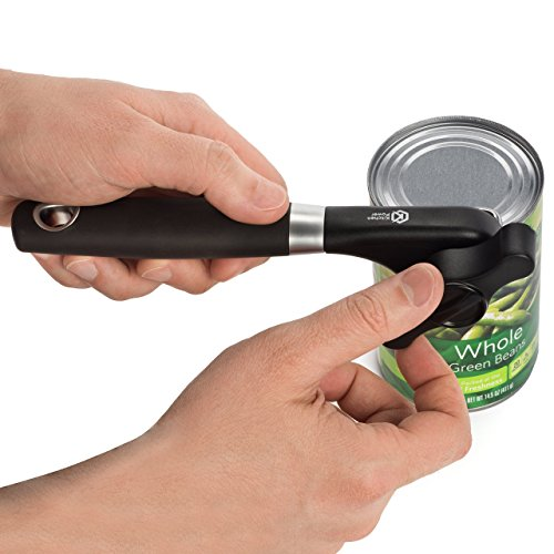 Kitchen Power Manual Food Safe Stainless Steel Can Opener with Ergonomic Non Slip Handle Sharp Cutting Wheel for Smooth Edges-Portable Lid Lifter by Kitchen Power (Image #5)'
