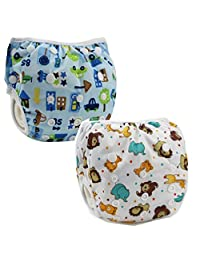Z-Chen 2 Pack of Baby Reuseable Washable Swim Diapers, Color A