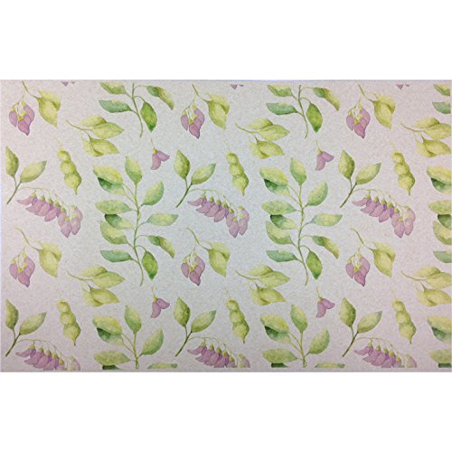 French Paper Dining Placemats - Set of 12 (Sweet Pea Floral (Green Violet-50 count bulk pack))
