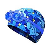 Kylin Express Fun Swimming Cap for Kids & Toddlers -Kids Swim Cap Durable Swimwear Hair & Ear Protector,#J