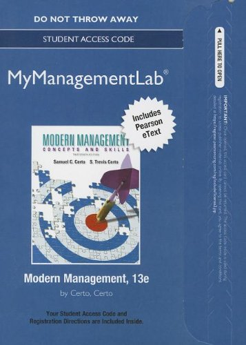 NEW MyManagementLab with Pearson eText -- Access Card -- for Modern Management (MyManagementLab (access codes))
