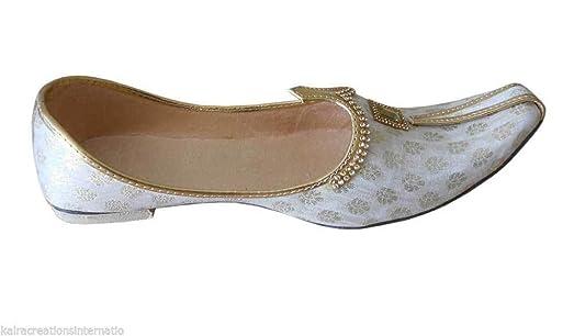 Kalra Creationsus Indian Handmade Wedding Men Shoes Groom Flip-Flops Khussa Jooti