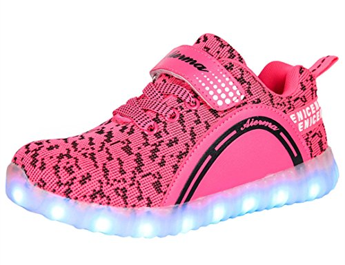 Light In The Box Shoes (THEZX Kids LED Light up Shoes Casual Sneakers for Boys and Girls (10.5, Rose))