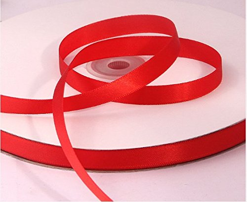 Red Satin Ribbon. High End Thick . 1 Inch 50 Yards Roll Ribbons