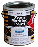 RAE 2493 - WHITE CHLORINATED RUBBER MARKING PAINT – professional grade road & parking lot paint for stencils, parking stall, crosswalks, stop bars, and zone painting or marking – Solvent-based for extra durable wear resistance for heavy traffic