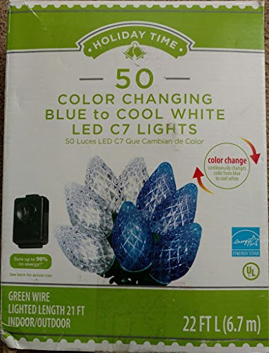 Led Color Changing C7 Lights Cool White To Blue